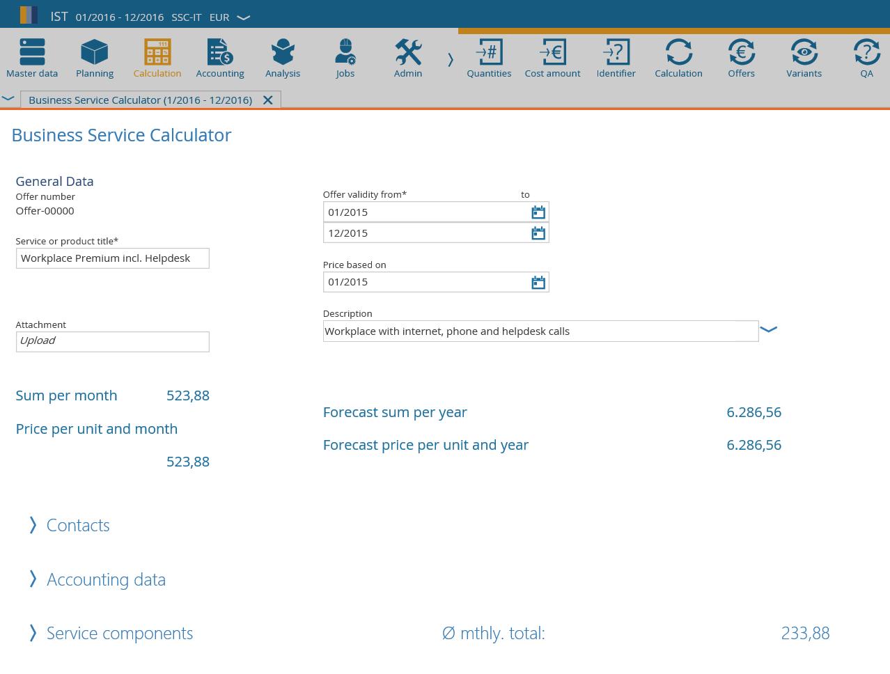 Financial Management Software Business Calculator