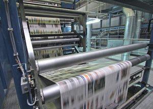 Zeitungsdruck bei DuMont