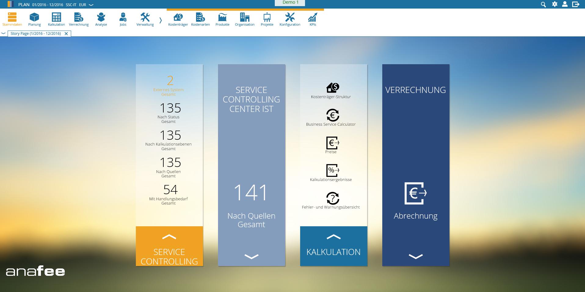 anafee 5.3 dashboard